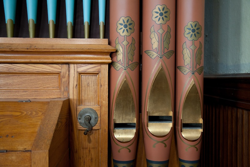 Detail of the Chapel's organ